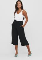 ONLY - Theia-journey life highwaist culotte - black