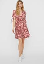 Vero Moda - Daniella 3/4 short dress - red & white