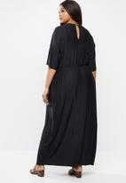 JUNAROSE - Mae 2/4 maxi dress - black