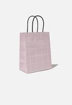 Typo - Get stuffed gift bag - small -  heather grid