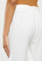 VELVET - Linen jogger pant - ivory