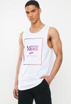 Vans - Print box tank -white - white