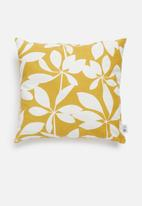Sixth Floor - Cut-out cushion cover - mustard