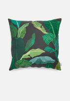 Sixth Floor - Line palm cushion cover - black & green