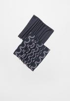 Superbalist - 2 Pack snood set - monochrome wave & charcoal