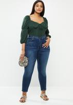 Glamorous - Plus v-neck blouse bodysuit - dark green