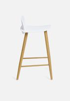 Sixth Floor - Felix kitchen stool - white & natural