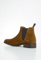 MANGO - Ankle leather boots chelsea - brown