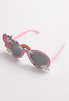 POP CANDY - Glitter unicorn sunglasses - pink