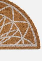 Present Time - Fairytale doormat -  natural & white