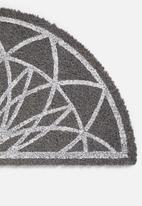 Present Time - Fairytale doormat - grey & white