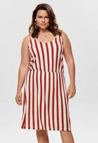 Carmakoma - Nille sleeveless knee dress - red & white