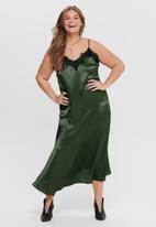 Carmakoma - Misty sleeveless lace calf dress - olive