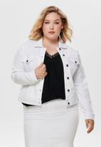 Carmakoma - Lock denim jacket - white