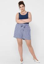 Carmakoma - Isa life stripe denim shorts - blue