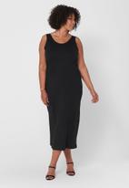 Carmakoma - Newscan sleeveless maxi dress - black