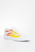 Vans - Old Skool - (flame) true white/classic white