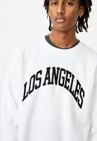 Factorie - Los angeles fleece top - white
