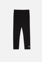 POLO - Girls victoria legging - black & white