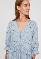 Vero Moda - Zota 3/4 embroidery tunic - blue