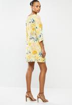 ONLY - Sandra 3/4 short dress - yellow