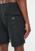 Billabong  - All-day-slub layback board-shorts - black
