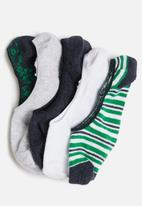 Cotton On - 5 Pack low cut sock - navy & green