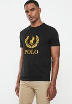 POLO - PRS embroidered logo tee - black