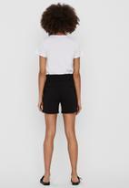 Vero Moda - Eva midrise short ruffle shorts - black