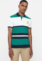 POLO - Aaron fashion 2 up custom fit golfer - teal & white
