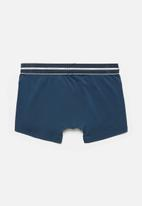 Jockey - Single plain nylon stretch short trunks - insignia blue