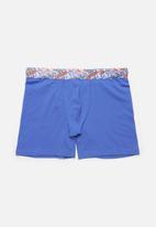 Jockey - Single trendz plain long leg pouch trunks - palace blue