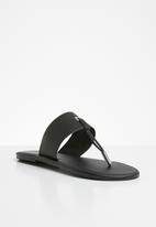 Superbalist - Jacki leather t-bar sandal - black
