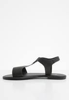 Superbalist - Jenna leather ankle strap sandal - black