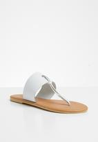 Superbalist - Jacki leather t-bar sandal - white