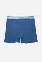 Jockey - Single trendz plain long leg pouch trunks - ocean depths