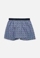 Jockey - Single digital printed loe woven boxer shorts - geo leaf