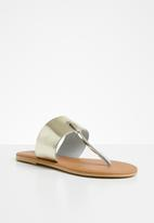 Superbalist - Jacki leather t-bar sandal - gold