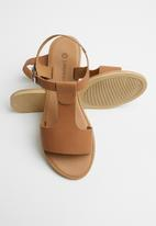 Superbalist - Jenna leather ankle strap sandal - tan