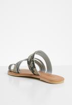 Superbalist - Kendra leather slide - brown & beige