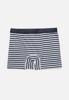 Jockey - 1 pack bot printed cotton stretch  l/leg pouch - grey & navy