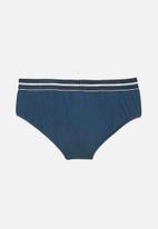 Jockey - 1 pack plain nylon stretch brief - blue