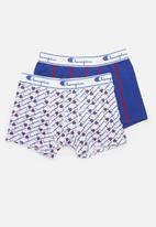Champion - Plain vs print 2 pack boxer brief - multi