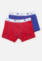 Champion - Plain 2pk boxer briefs  -multi