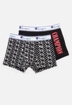 Champion - Plain vs print 2 pack boxer brief - multi