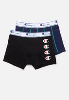 Champion - Side logo and plain boxer brief - black & navy