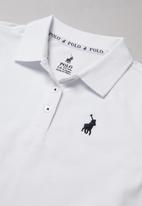 POLO - Nina short sleeve golfer - white