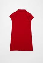 POLO - Dakota short sleeve golfer dress - red