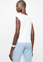 MANGO - T-shirt nudo - white