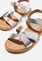 Cotton On - Fisherman weave sandal - metallic silver
